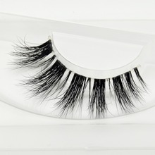 Visofree Mink Lashes 3D Mink Eyelashes Invisible Band Natural Black Mink False Eyelash Full Strip cilios posticos Reusable F43(China)