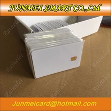 50pcs/lot ISO7816 PVC Smart Card IC Contact SLE 4442 Chip White PVC Blank Smart Card(China)