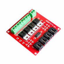 Four Channel 4 Route MOSFET Button IRF540 V4.0+ MOSFET Switch Module For Arduino