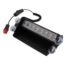 10000-12000MCD Super Bright 8 LED12V 8W Signal Flashing Warning Car Light Police Strobe Flash Emergency Lights Auto Accessoreis(China)