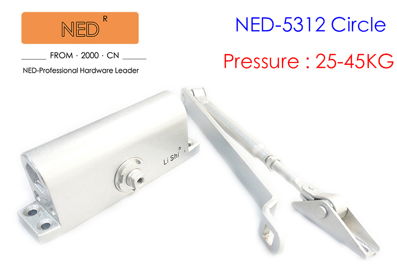 NED Household Speed Control Type Adjustable Door Closer Fire Channel Damper Buffer Type Automatic Door Closers Bear 25-45KG<br>