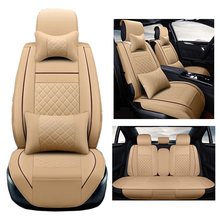 ( Front + Rear ) PU Leather Auto For Maybach Trabant ALPINA BRABUS MIni Tire Track Detail Styling Car Seat Protector Crossovers