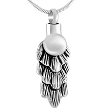 Made in China free shipping low price stainless steel cremation pendant memorial urn necklace funeral ashes souvenirs wholesale