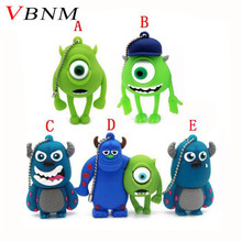VBNM Monsters University Mike USB Flash Drive lovely cartoon pendrive 4GB/8GB/16GB special gift memory stick usb disk(China)