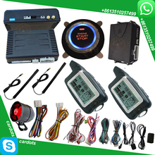 2 way security car alarm system LCD remote start stop engine  central lock automatication handfree lock or unlock car door