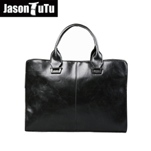 JASON TUTU Brand Men briefcase Business men bag high quality leather briefcases men Lawyer bags black leather bag men B07(China)