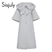 Sisjuly winter women jacket coat white short sleeve jacket women autumn elegant fashion single breasted female overcoat new 2017(China)
