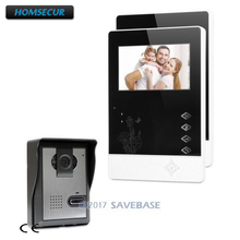 "HOMSECUR 4.3"" Wired Video Door Intercom System with IR Night Vision for Home Security(China)"