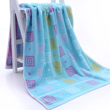Geometric Square Pattern Bath Towel High Quality Thickening 100% Cotton Towel Soft Comfortable Water Absorption Yarn Dyed Towels