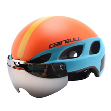 CE Certification Magnetic Goggles Cycling Helmet Ultralight Bicycle Helmet In-mold Casco Ciclismo Road Mountain Bike Helmet(China)