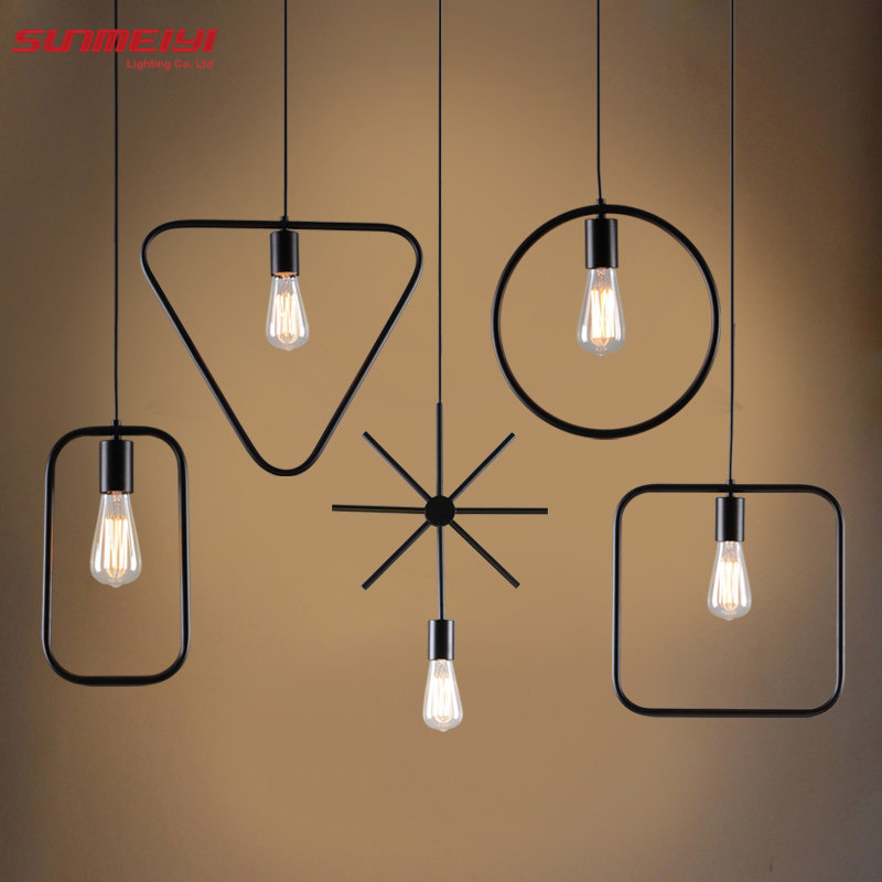 Nordic Style Pendant Lighting Home Decoration Modern Minimalist Hanging Lights Art Fixtures Ambilight Wrought Iron Lamp Lampara<br>