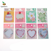 3 piece Korean cartoon sticky notes creative post notepad filofax memo pads office supplies school stationery flower scratch(China)