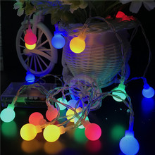 AA battery Operated Multicolor LED string 2M20LEDs Ball light Ourdoor Patio Fairy Garden Xmas Tree Party Wedding Home Decor Lamp(China)