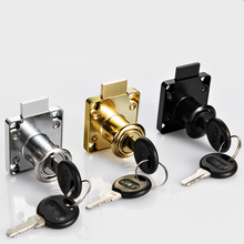Drawer Locks with 2 Keys Lock Furniture Hardware Door Cabinet Lock for Office Desk Letter Box 3 Colors Cam Locks(China)