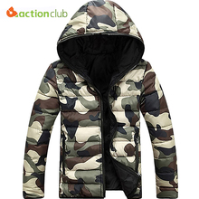 ACTIONCLUB Men's Jacket Spring And Autumn Warm Camouflage Jacket Men Overcoat Men's College Coat Jacket Men Casual Jackets