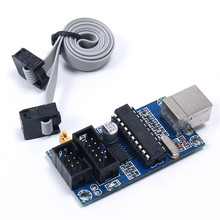 USBTiny AVR ISP Programmer MCU Microcontroller With 6-pin Cable USBtinyISP Downloader USB Interface For Arduino/Bootloader