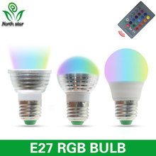 Low price RGB LED Lamp E27 5W LED Bulb E14 GU10 RGB Soptlight 85-265V Energy Saving 16 Color Change LED Lampara With IR Remote B(China)