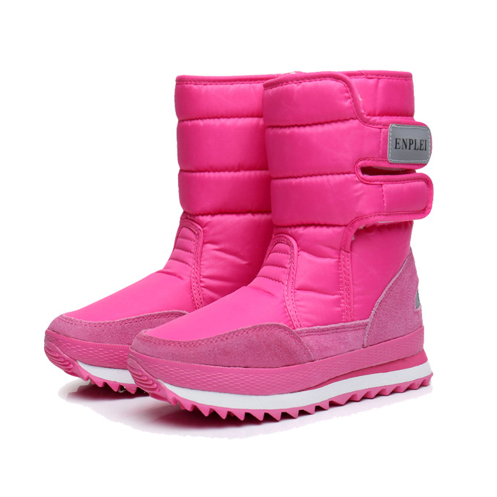 AME 2017 Winter Thickening Women Shoes Snow Boots Warm shoese Ladies Plus Size 43 44 45 Boots Slip resistant Waterproof Boots<br>