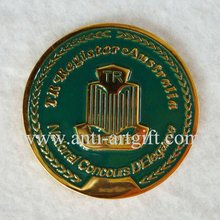 Customized design logo Challenge Green Soft Enamel Coins Souvenir Gifts OEM/ODM service