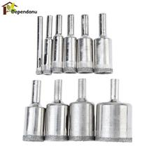 10 Pcs Diamond Drill Bit Set 6mm-30mm Diamond Coated Core Hole Saw Drill Bits Tool Cutter for Glass Marble Tile Granite Drilling