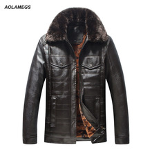 Buy Aolamegs Winter Leather Jacket Men Middle-aged Thick Warm Lining PU Leather Jackets Coat Casual Parkas Outwear Plus Size 4XL 5XL for $66.65 in AliExpress store