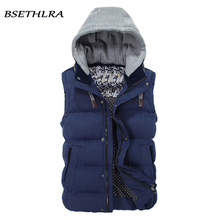 BSETHLRA 2017 New Vest Men Autumn Winter Hot Sale Quality Outwear Waistcoat Solid Slim Fit Casual Chaleco Hombre Brand Clothing