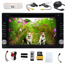 3G dongle+Wireless Camera+6.2 inch 2 DIN Universal Win 8 Car Stereo Radio HD 800*480  Touch Screen GPS Navigation Car DVD Player