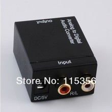 Digital Optical Coax Toslink to Analog Audio Converter DAC Fiber with adapter