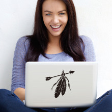 Native American Arrow And Feather Computer Sticker For Wall Notebook Vinyl Adhesive Removable Laptop Sticker Decor Accessories