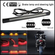 New 48 LED Universal flexible Motorcycle Light Strip Tail Brake stop/turn sign Light
