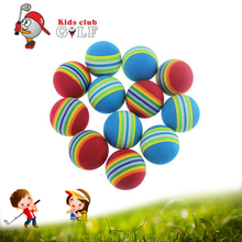 50 pcs/lot EVA Foam Golf Balls Practice Light-weight Indoor Outdoor Soft Rainbow Stripe Backyard Kids Golf Ball(China)