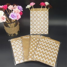 100pcs Brown Kraft Paper Bags Strung Food Quality Craft Favor Candy Snack Bags Gift Treat Paper Bags Party Favor 5 x 7