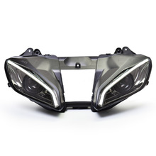 KT Headlight for Yamaha YZF R6 2006-2007 LED Optical Fiber Eye Motorcycle HID Projector Assembly(China)