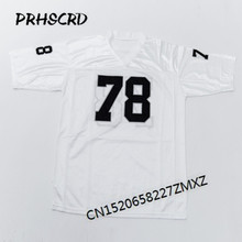 Retro star #78 Art Shell Embroidered Throwback Football Jersey(China)