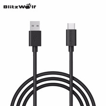 BlitzWolf 3.33ft/1m 3A Double-sided Double Sided Reversible USB to Type-C Phone Data Cable For Xiaomi For Huawei Mobile Phone