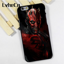 LvheCn phone case cover fit for iPhone 4 4s 5 5s 5c SE 6 6s 7 8 plus X ipod touch 4 5 6 sith star wars darth maul dark side