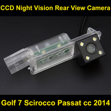 Car rear view camera for Golf 7 Scirocco Passat cc 2014 CCD Night Vision BackUp Reverse Parking Camera
