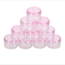 5Pcs Empty Cosmetic Container Plastic Jar Pot Eyeshadow Makeup Travel Face Cream Lotion Refillable Bottle Box