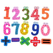 15 Pcs/Set Number Wooden Fridge Magnet Education Learn Cute Kid Baby Toy Home Decor Refrigerator Message Board