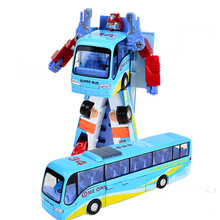 BOHS Metal Alloy Include Plastic Parts Transformation Bus Robot(China)