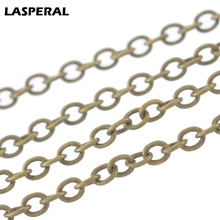LASPERAL 2017 Bronze ToneCable Link Chains For Women DIY Belt Bag Chain Jewelry Making Supplies Mens Stempunk Jewelry Gifts