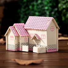 1 Set Wooden Manual Mosaic Model Building Assembled Villa Cottage 3D Puzzles Toys Parents Child Interactive Products Kids Gifts(China)