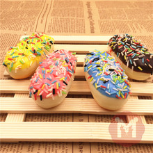 10Pcs/Lot Cute Original Rainbow Chocolate Bread Squishy Slow Rising Colorful Sprinkles Cake Soft Cream Scented Kid Fun Toy Gift