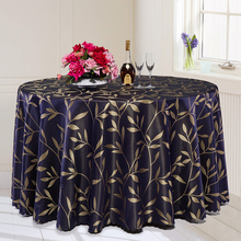 3 Color Multi-purpose Luxurious Round Table Cover Rectangle Table Cloth Plant Pattern Hotel Wedding Tablecloth Machine Washable
