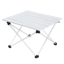 Aluminum Alloy Table Foldable Desk Lightweight Outdoor Table Camping Accessory  Durable for Hiking Fishing Cycling