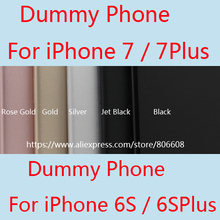 Non-Working 1:1 Fake Metal Phone Display Model Mould Dummy for iPhone 7 for iphone 7 Plus Phone Dummy Case Display Use ONLY