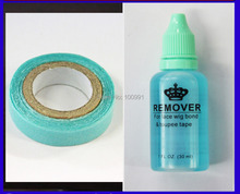 1 bottle 30ml adhesive remover for Skin tape hair/ PU skin weft hair extensions and Blue tape glue