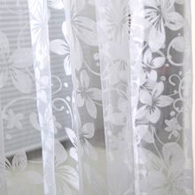 Hot Sales Home Door Window Panel Room Divider String Curtain Sheer Voile Tulle Drape Scarfs Curtains