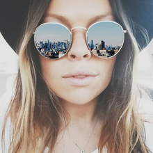 High Quality Round Sunglasses Women Brand Designer Summer Style Points Sun Glasses Women Men Lady Sunglass Mirror Vintage Retro