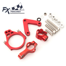 For DUCATI 848	2008-2010 FX CNC Aluminum Adjustable Motorcycle Steering Stabilizer Mounting Bracket Support Kit Moto Accessories